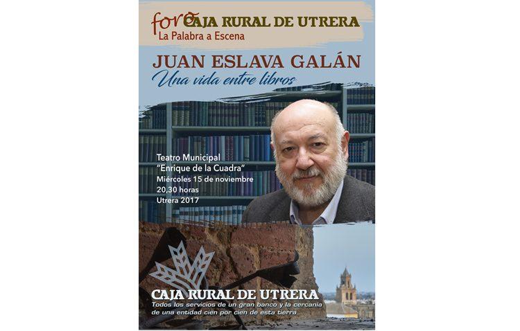 El prestigioso escritor Juan Eslava Galán llega al teatro para el ciclo de conferencias de Caja Rural de Utrera (AUDIO)