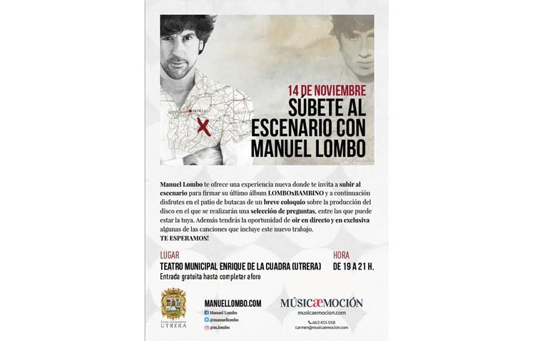 Manuel Lombo firma ejemplares de su nuevo disco en el teatro de Utrera