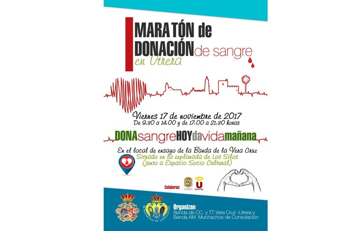 Un maratón de 9 horas para donar sangre en Utrera ante el déficit de reservas