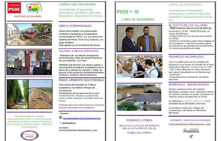 Podemos lanza un boletín para «dejar en evidencia la mala gestión del gobierno PSOE-IU»