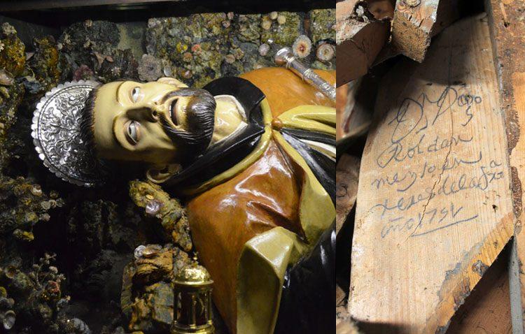 Culmina la restauración de la imagen de San Francisco Javier, que ha sacado a la luz un descubrimiento inesperado