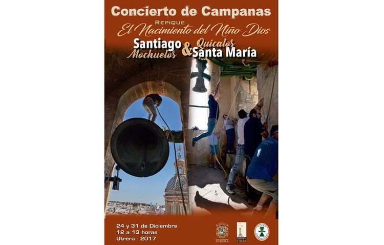 Utrera despide el año con un concierto de campanas en Santa María y Santiago