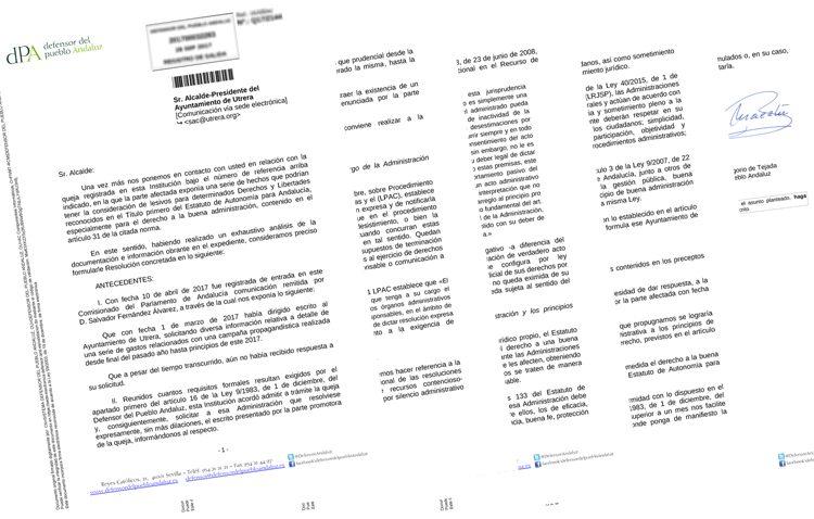 La falta de transparencia de Villalobos sobre el paseo de Consolación desespera al Defensor del Pueblo Andaluz