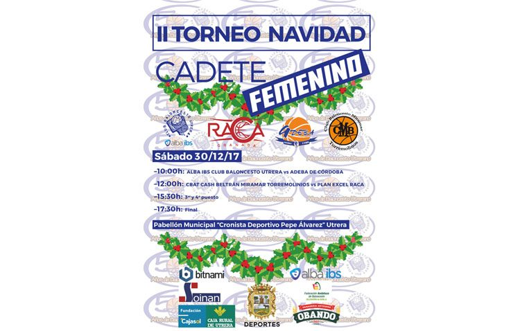 El C.B. Utrera celebra su torneo navideño cadete femenino