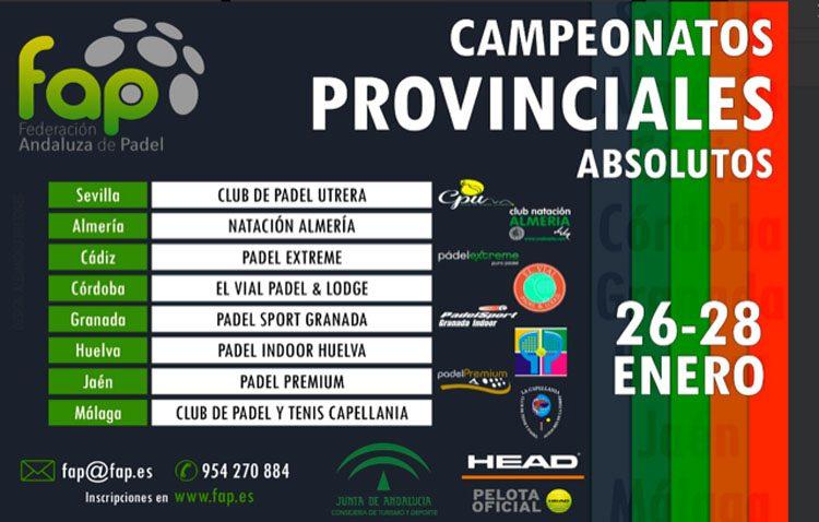 Más de un centenar de jugadores de pádel disputarán en Utrera el campeonato de selecciones andaluzas