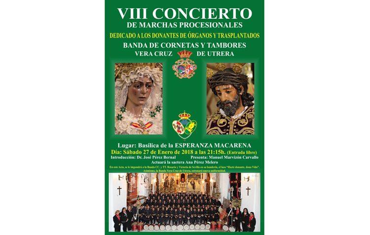 Concierto de la banda de la Vera-Cruz en la basílica de la Macarena a beneficio de las donaciones de órganos