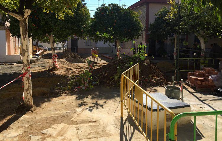 Avanzan las obras de regeneración urbana en la barriada Coronación
