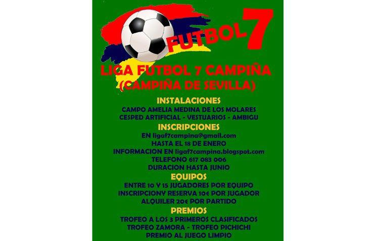 Abierta la inscripción para la «Liga Fútbol 7 Campiña»