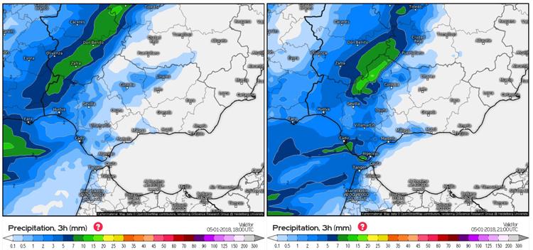 La previsión de lluvia y viento marca el 5 de enero en Utrera