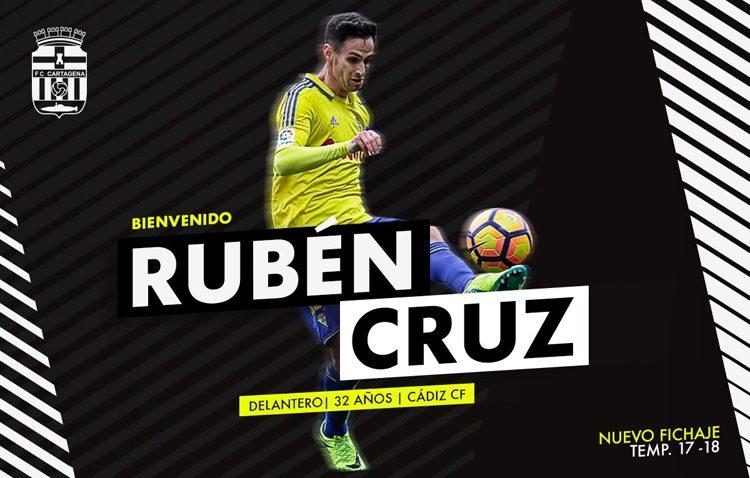 El futbolista utrerano Rubén Cruz, nuevo delantero del Cartagena