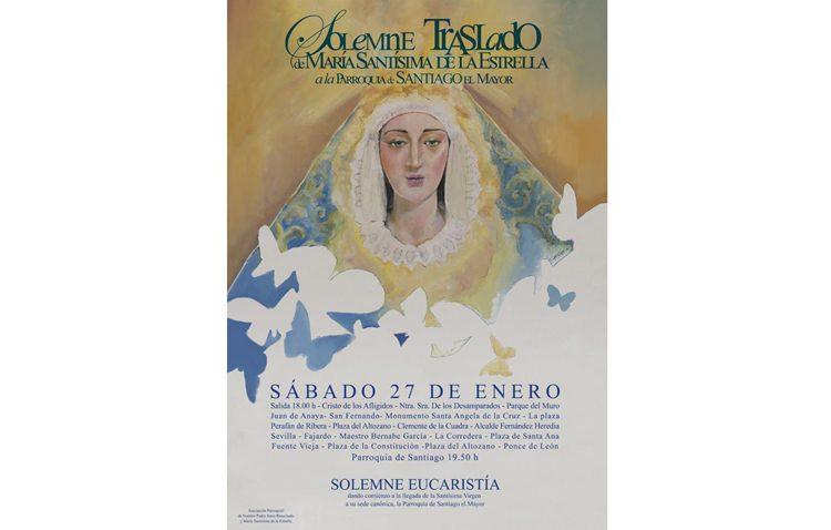 Traslado de la Virgen de la Estrella a la parroquia de Santiago