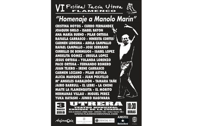 Cuatro decenas de artistas rinden homenaje a Manolo Marín con un espectáculo en el «Tacón Flamenco»