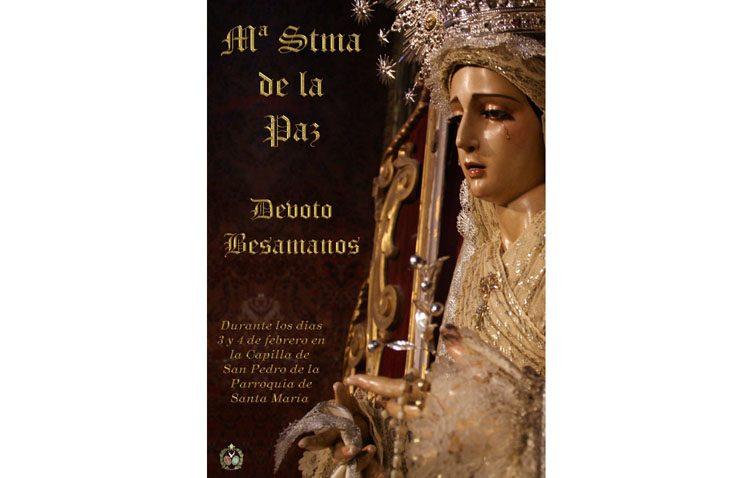 Los Aceituneros organizan el besamanos a la Virgen de la Paz