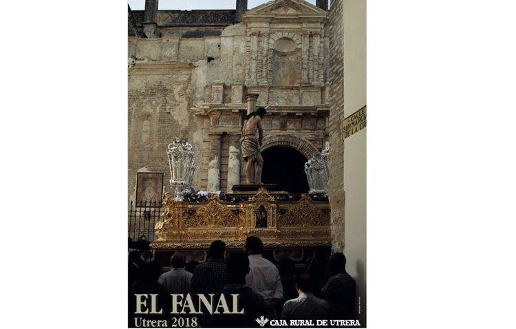 Una fotografía del Señor Atado a la Columna de los Aceituneros, protagonista del cartel de la tertulia «El fanal»