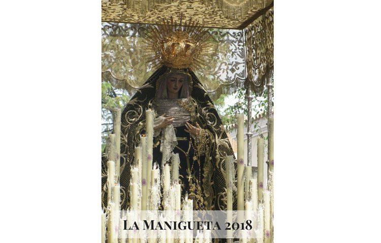 Una fotografía de la Virgen de las Angustias, protagonista del cartel de la tertulia «La Manigueta»