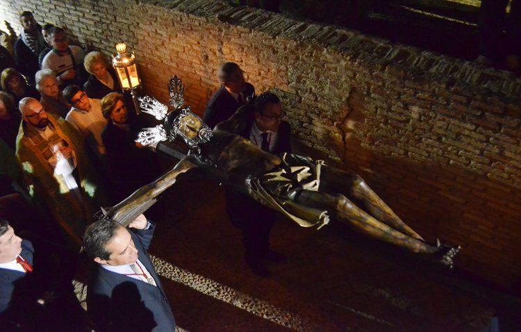 El patrono de Utrera volverá a visitar el castillo en su vía crucis anual