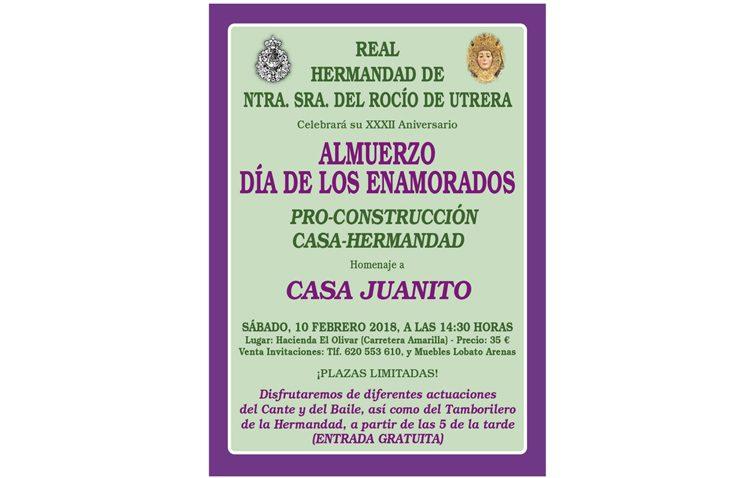 La hermandad del Rocío organiza su tradicional almuerzo anual pro-construcción de la casa-hermandad