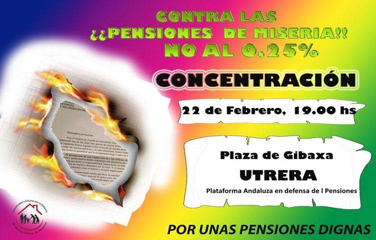 Una manifestación defenderá en Utrera el sistema de pensiones