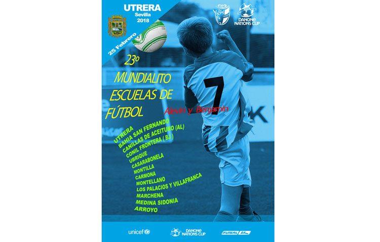 La escuela municipal de fútbol de Utrera celebra su trigésimo aniversario con el Mundialitos Danone Nations Cup