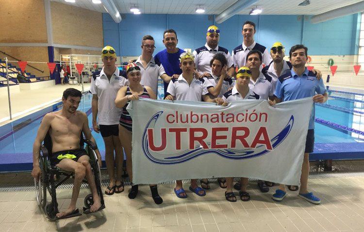 El Club Natación Utrera participa en dos nuevas competiciones con las categorías inferiores y el grupo de natación adaptada