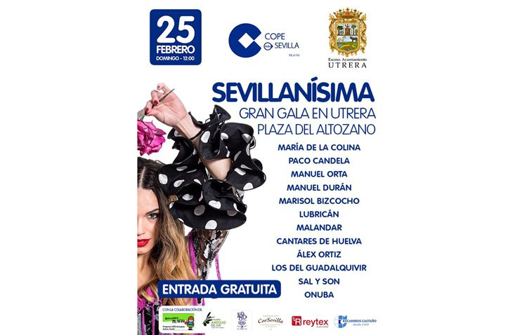 Gala «Sevillanísima» de COPE Sevilla en la plaza del Altozano