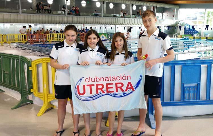 El Club Natación Utrera, presente en los Campeonatos de Andalucía Alevín de Invierno