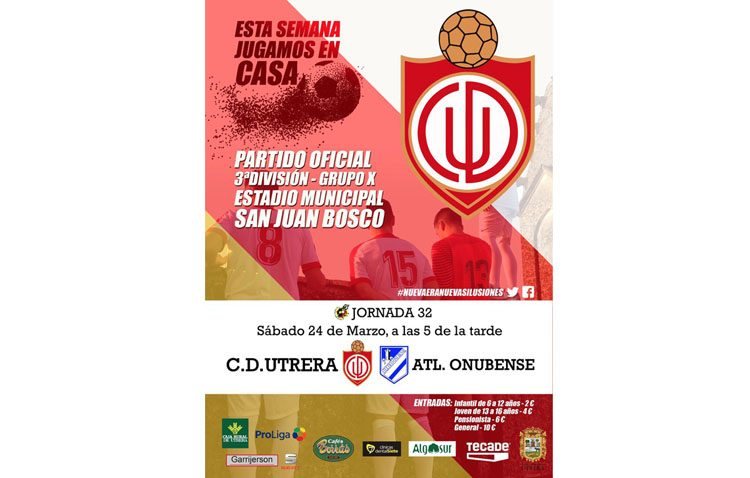 C.D. UTRERA – ATLÉTICO ONUBENSE: El Utrera se enfrenta a un Atlético Onubense en puestos de descensos