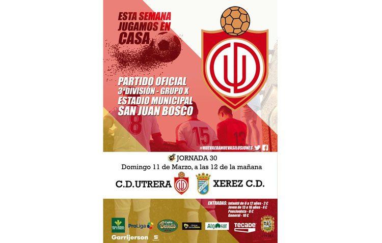 C.D. UTRERA – XEREZ C.D.: El Utrera, dispuesto a sumar su tercera victoria consecutiva