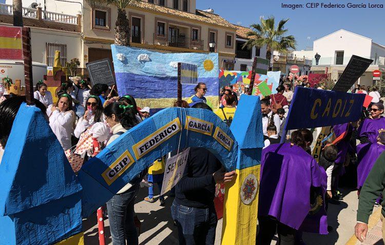 La riqueza de Andalucía sale a las calles de El Palmar de Troya con el colegio Federico García Lorca