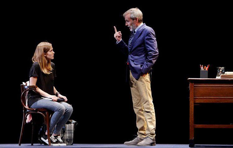 Fernando Guillén Cuervo y Natalia Sánchez, protagonistas en Utrera con la obra «Oleanna»