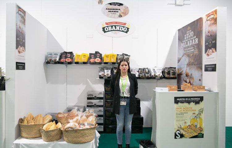 La empresa utrerana Panadería Obando, presente en la feria provincial del pan, el aceite y la aceituna