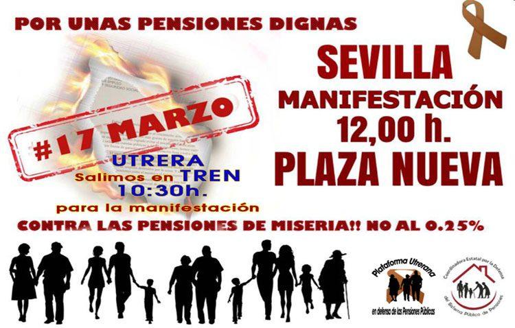Convocan a los utreranos a nuevas movilizaciones en defensa de las pensiones