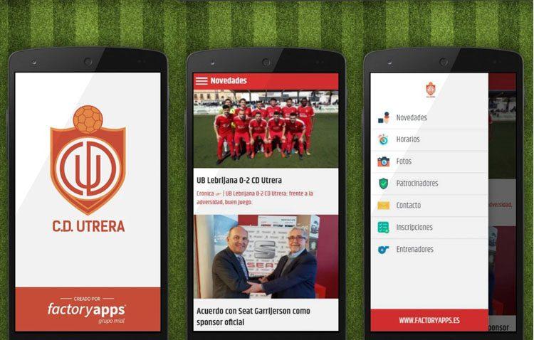 El Club Deportivo Utrera presenta su «app» oficial