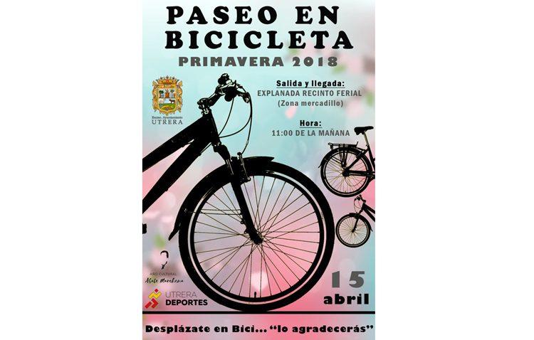El paseo en bicicleta protagoniza un domingo para toda la familia en Utrera