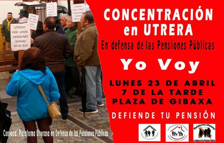 Nueva concentración en Utrera «en defensa de las pensiones públicas»