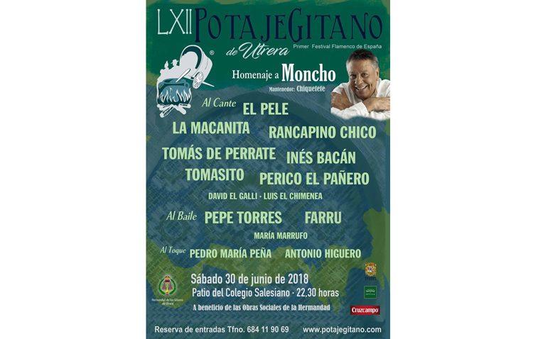 El Potaje Gitano marca el cierre a junio con una noche flamenca que rinde tributo a «Moncho»