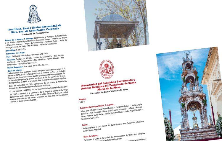 El Consejo de Hermandades de Utrera edita por primera vez un programa de mano sobre los cultos de gloria y eucarísticos