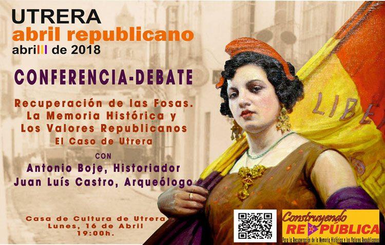 Una conferencia hablará de la «recuperación de las fosas republicanas y recuperación de la memoria histórica» en Utrera