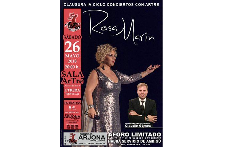 Rosa Marín vuelve en concierto a la sala «Artre»