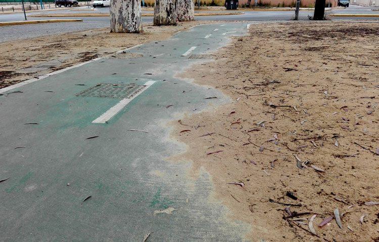 El gobierno local reconoce el abandono de los carriles bici de Utrera