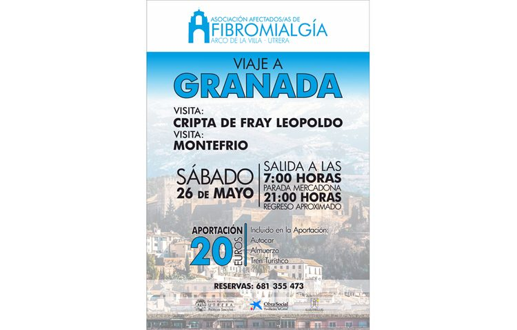 La asociación de afectados de fibromialgia organiza un viaje a Granada