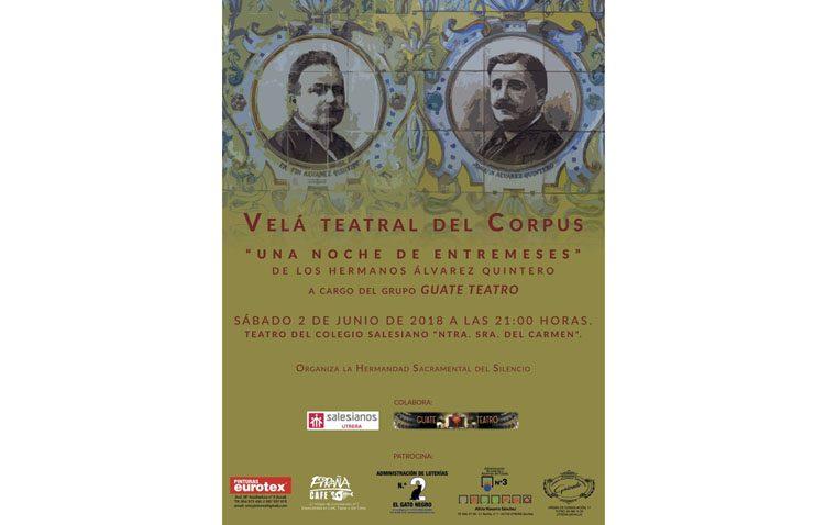 La hermandad del Silencio organiza una velada teatral con obras de los Álvarez Quintero
