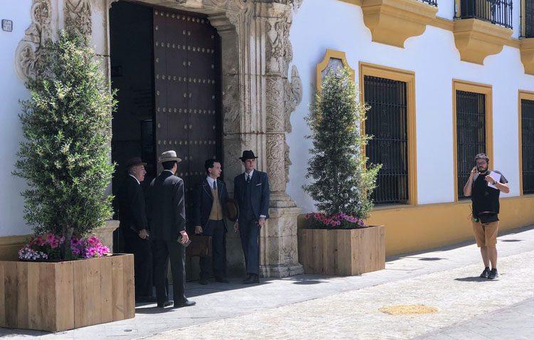 Un intenso día de rodaje en Utrera de la serie «La otra mirada» de Televisión Española