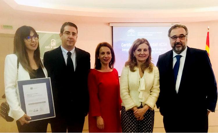 Un reconocimiento para el centro de salud Utrera Sur por la calidad del trabajo de sus profesionales