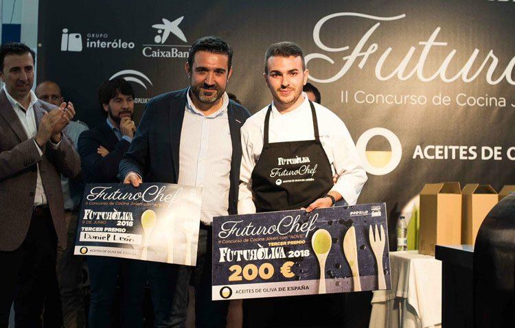 El utrerano Daniel León sube al podium del concurso de cocina joven «FuturoChef»