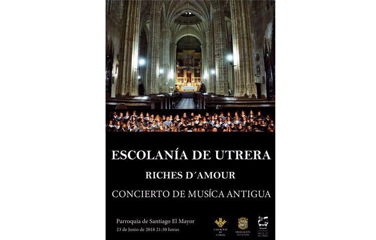 Concierto de música antigua de la Escolanía de Utrera y el grupo Riches D'amour en la parroquia de Santiago