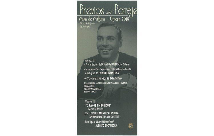 Los previos del Potaje Gitano rendirán homenaje a Enrique Montoya en el vigésimo quinto aniversario de su fallecimiento