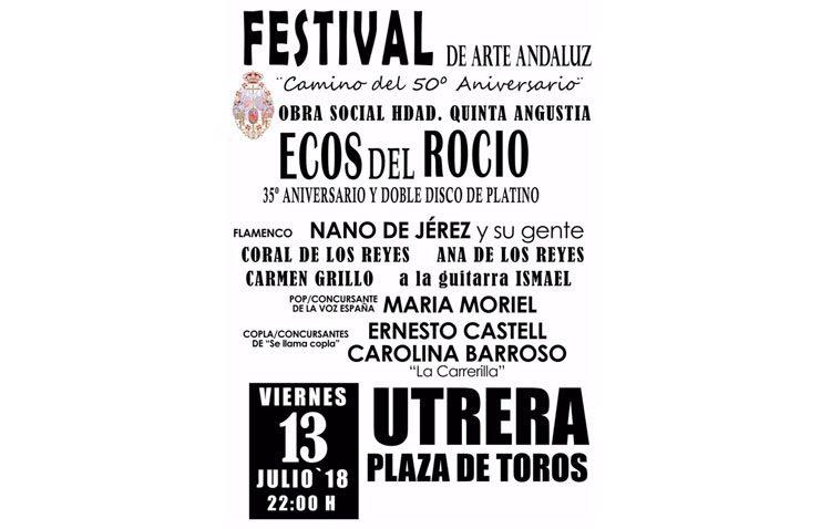 Noche de música en la plaza de toros con el «Festival de Arte Andaluz» encabezado por Ecos del Rocío
