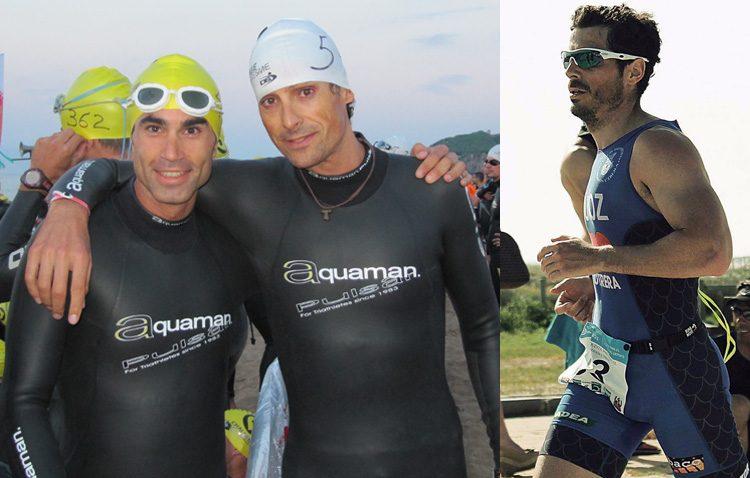Tres triatletas del Club Poseidón en el «ironman» de Vitoria