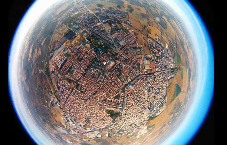La espectacular imagen de Utrera captada por jóvenes estudiantes desde la estratosfera